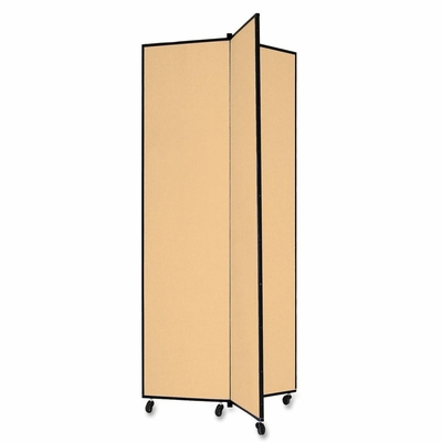 Screenflex 3 Panel Mobile Display Tower in Wheat - SCXCDS683CW