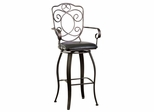 Scroll Back Bar Stool - Bronze with Muted Copper - Powell Furniture - 222-486