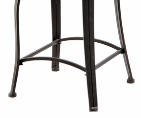 Scroll Back Counter Stool - Bronze with Muted Copper - Powell Furniture - 222-726