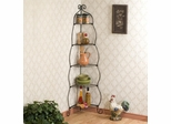 Scrolled Black Corner Etagere - Holly and Martin