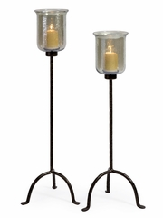 Sea Green Floor Candlestands (Set of 2) - IMAX - 6955-2