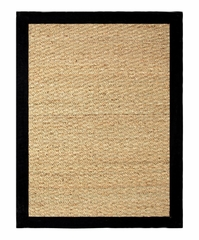 "Seagrass Area Rug in Black - 24"" x 36"" - 11755"