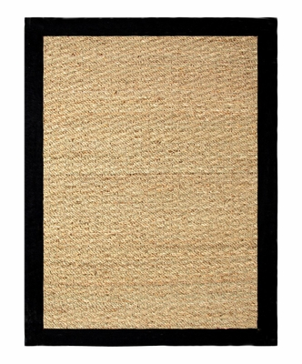 Seagrass Area Rug in Black - 40