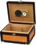 Seaside Rattan Wood Cigar Humidor - HUM-25SEA