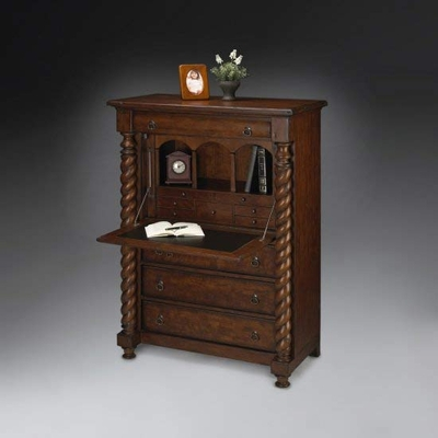 Secretary Drop Front in Old World Cherry - Butler Furniture - BT-1817102