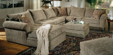 Sectional Sofa in Sage / Chenille Fabric - Coaster