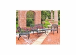 Sedona 4 Piece Aluminum Outdoor Conversation Set - Black Loveseat, 2 Club Chairs and Cocktail Table - CROSLEY-KO60001BK