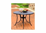"Sedona 42"" Cast Aluminum Dining Table in Charcoal Black - CROSLEY-CO600142-BK"