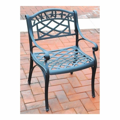 Sedona Cast Aluminum Arm Chair in Charcoal Black Finish - Set of 2 - CROSLEY-CO6101-BK