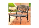Sedona Cast Aluminum Club Chair in Charcoal Black Finish - CROSLEY-CO6103-BK