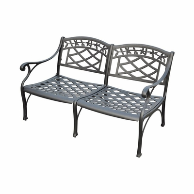 Sedona Cast Aluminum Loveseat in Charcoal Black - CROSLEY-CO6104-BK