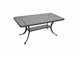 Sedona Cast Aluminum Rectangular Cocktail Table in Charcoal Black - CROSLEY-CO6201-BK