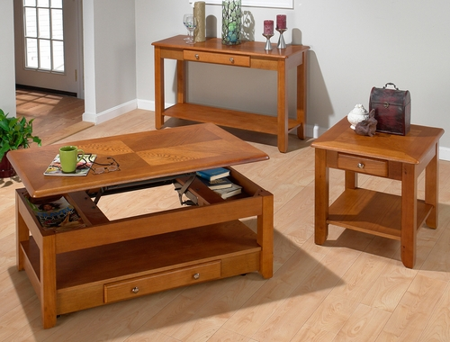 Sedona Oak 3PC Accent Table Set - 480-1