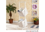 SEI 2-Tier Basket Storage - White