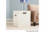 SEI Aspen End Table Trunk - White
