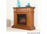 SEI Brantley Electric Fireplace - Walnut
