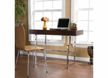 SEI Brooklyn Desk Espresso and Chrome