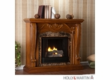 SEI Cardona Gel Fuel Fireplace - Walnut