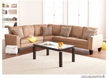SEI Carlton 3pc Sectional - Sofa / Loveseat / Wedge - Mocha