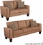 SEI Carlton Sofa / Loveseat 2pc Set - Mocha