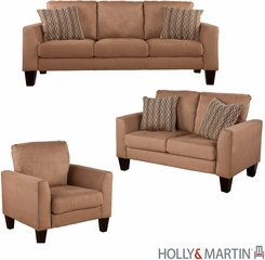 SEI Carlton Sofa / Loveseat / Chair 3pc Set - Mocha