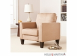 SEI Carlton Stationary Chair - Mocha