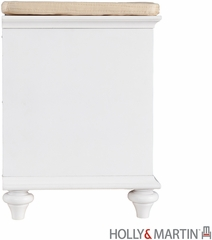 SEI Chelmsford Entryway Bench - White