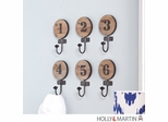 SEI Decorative 6pc Numbered Hook Set
