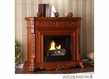 SEI Hartley Gel Fuel Fireplace - Classic Mahogany