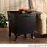 SEI Hayden End Table Trunk - Black