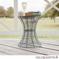 SEI Indoor/Outdoor Round Metal Accent Table, 18.5 Inch - Silver