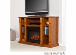 SEI Kendall Electric Media Fireplace - Glazed Pine