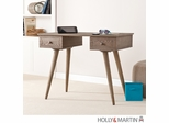 SEI Leo Desk - Burnt Oak