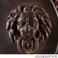 SEI Lion's Head Gate 2pc Wall Plaque Set