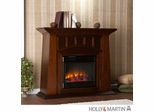 SEI Lowery Electric Fireplace - Espresso