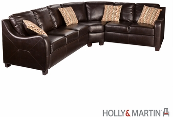 SEI Montfort 3pc Sectional - Sofa / Loveseat / Wedge - Chocolate