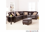 SEI Montfort 4pc Sectional Sofa / Love / Wedge / Otto - Choco