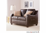 SEI Montfort Stationary Loveseat - Chocolate