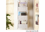 SEI Over-The Door 3-Tier Basket Storage - White
