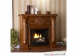 SEI Romano Gel Fuel Fireplace - Salem Antique Oak