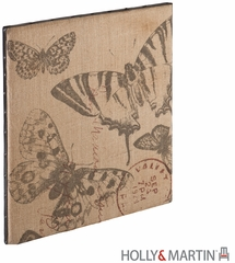 SEI Vintage Burlap Message Board - Butterfly