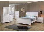 Selena 5PC Bedroom Set in White - 400231X