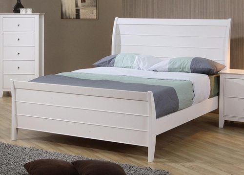 Selena Sleigh Bed with Panel Detail - 400231T