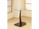 Semi-Oval Snack Table with Glass Top - 901011