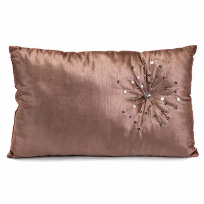 Sendai Lotus Flower Rectangle Pillow - 12 x 20 - IMAX - 42060