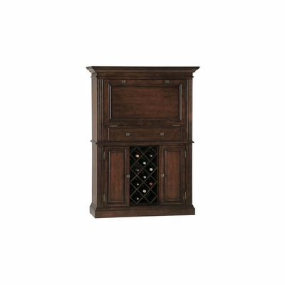 Seneca Falls Americana Cherry Wine and Bar Cabinet - Howard Miller