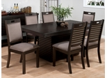 Sensei Oak Rectangle Table and Hamilton Chair Set - 7PC - 588-72T