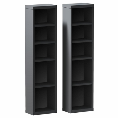 Sereni-T Pair of CD / DVD Storage Towers - Nexera Furniture