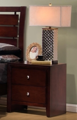 Serenity Nightstand in Merlot - 201972