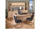 Series C / Corsa in Light Oak - Bush Office Furniture
